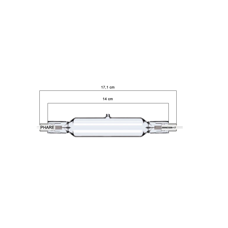 Lampada abbronzante 2000/2.500 W/17 CM TURBO
